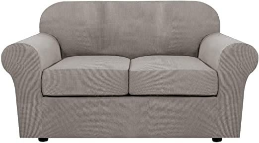 3 Piece Stretch Sofa Covers For 2 Cushion Couch Loveseat Covers For Living Furniture Slipcovers Base Cover Plus Love Seat Furniture Slipcovers Loveseat Covers Slipcovers for loveseats with 2 cushions