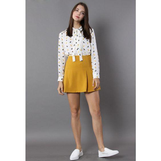 Mustard A Line Skirt | Jill Dress