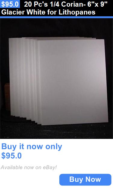 Art Paintings Mixed Media Collage: 20 Pcs 1/4 Corian- 6X 9 Glacier White For Lithopanes BUY IT NOW ONLY: $95.0