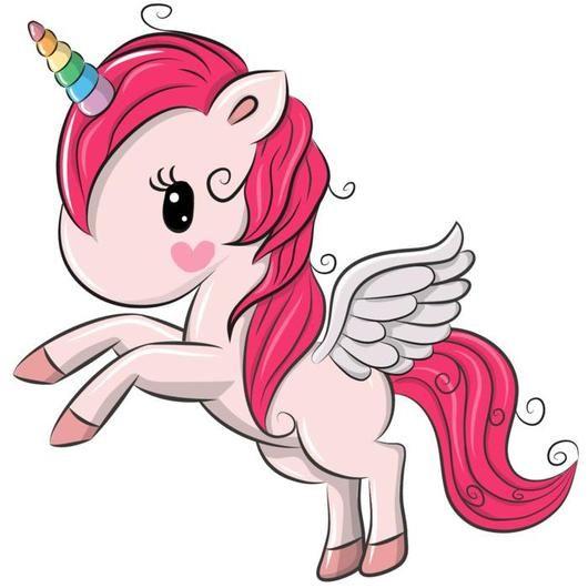 Rainbow Pink Unicorn Decal For Girls Bedroom Cartoon Unicorn Unicorn Pictures Cute Cartoon