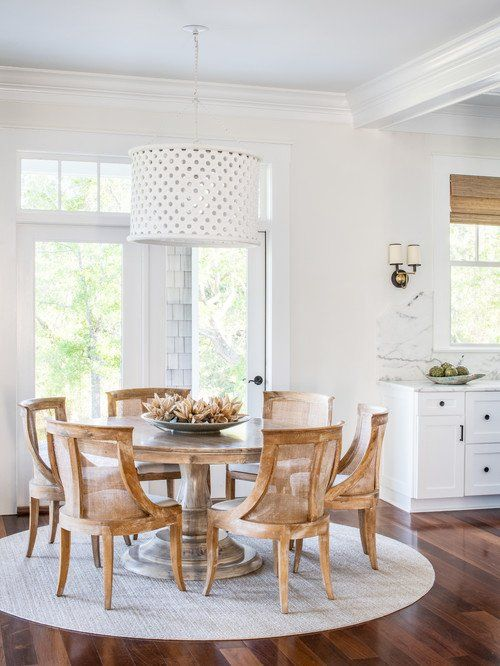 Dream Cottage In North Carolina Town Country Living Round Dining Room Round Dining Room Table Coastal Dining Room North carolina dining room furniture