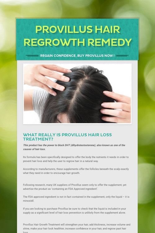 Provillus Hair Regrowth Remedy Hair Regrowth Remedies Hair Regrowth