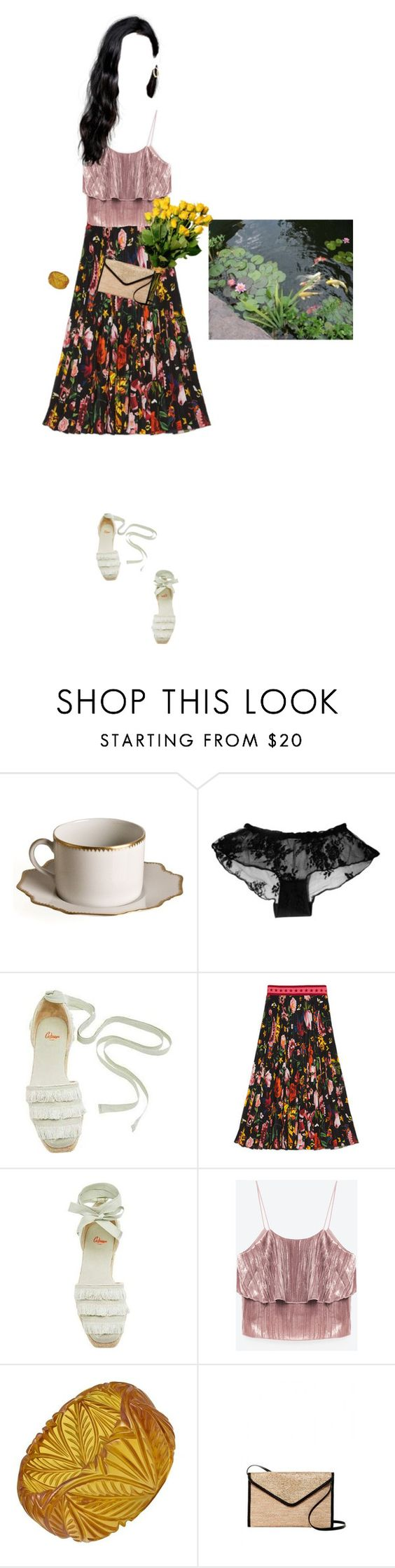 """""""Hanoi girl"""" by ohyou ❤ liked on Polyvore featuring Anna Weatherley, Castañer, Gucci, Magid and Mondevio"""