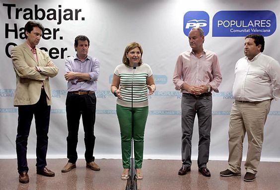 Isabel Bonig, líder y portavoz del PPCV hasta el congreso de 2016