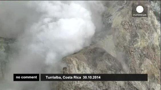 Erupción del volcán Turrialba en Costa Rica
