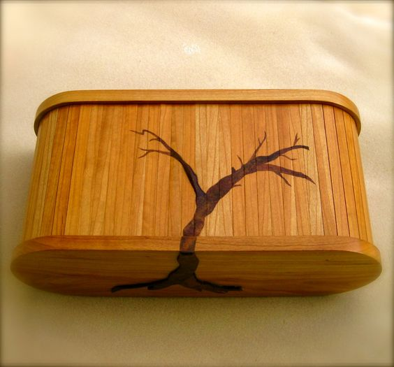 Handmade Walnut and Cherry Wooden Jewelry Box High End Jewelry Box