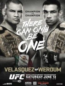 UFC 188: Velasquez vs. Werdum Fightcard