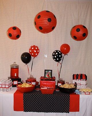 Party Tinkers: Catherine's 3rd Birthday Ladybug Party