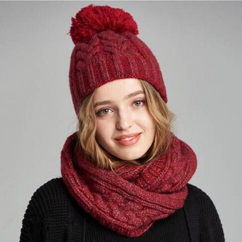 Pin On Winter Hat And Scarf Set For Women
