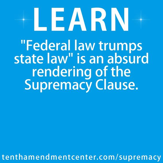 The Supremacy Clause Smackdown!