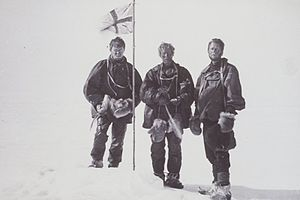 Sir Douglas Mawson, OBE, FRS, FAA (5 May 1882 – 14 October 1958) was an Australian geologist, Antarctic explorer and Academic. Along with Roald Amundsen, Robert Falcon Scott, and Ernest Shackleton, Mawson was a key expedition leader during the Heroic Age of Antarctic Exploration.