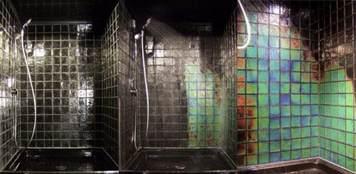 Color Changing Shower Tile Shower Tile Changes Color Depending