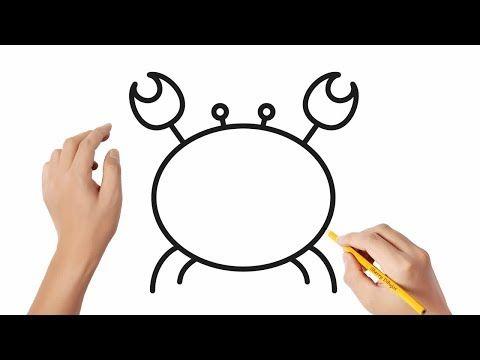 Como Dibujar Un Cangrejo 3 Dibujos Sencillos Youtube Dibujos Sencillos Cangrejo Dibujo Como Dibujar