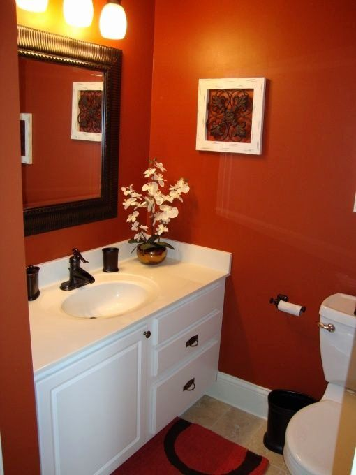 Burnt Orange Bathroom Decor Beautiful Information About Rate My Space In 2020 Orange Bathroom Decor Bathroom Red Orange Bathrooms
