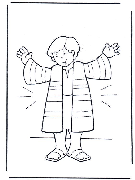 Joseph And The Coat Of Many Colors Coloring Sheet Joseph And His