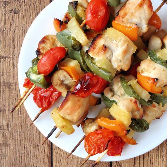 These chicken pineapple kabobs are delicious, tender and so easy to make. They are perfect for any season - you can make them in the oven or on the grill.