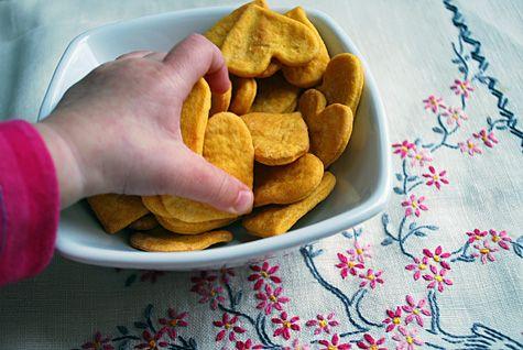 Sweet potato crackers - sweet!