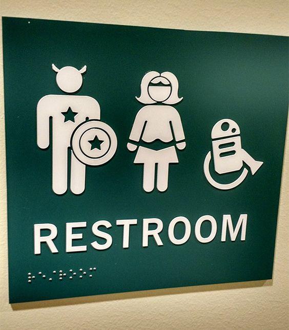15 signaux homme/femme aux toilettes vraiment originaux - Il était une pub…