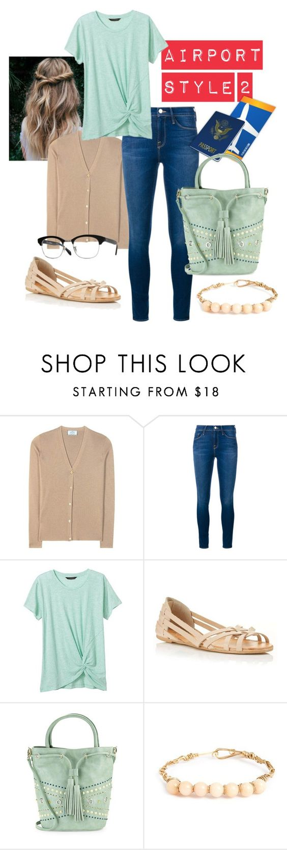 """""""Airport style 2"""" by mfcastillo98 ❤ liked on Polyvore featuring Prada, Frame Denim, Banana Republic, Miss Selfridge, Vanity Fair and Steven by Steve Madden"""