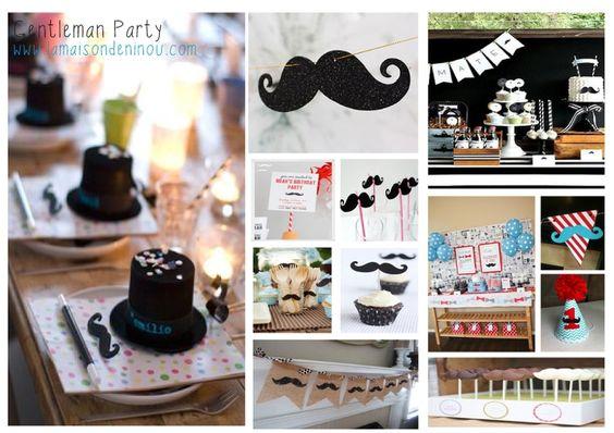 INSPIRATIONS DECO anniversaire enfant moustache