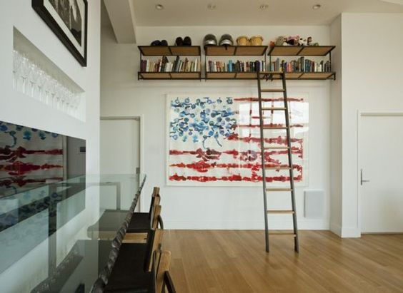 Living Room With Stylish Flag Portrait On The Wall Created By Australian Artist Gav Barbey. #livingroom #livingroomdesign #livingroomideas
