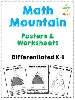 math worksheet : mountain math first grade  educational math activities : Math Mountain Worksheets