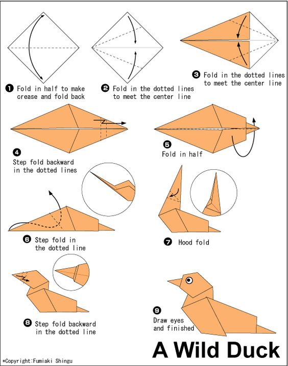 origami wild duck папі� pinterest origami and ducks