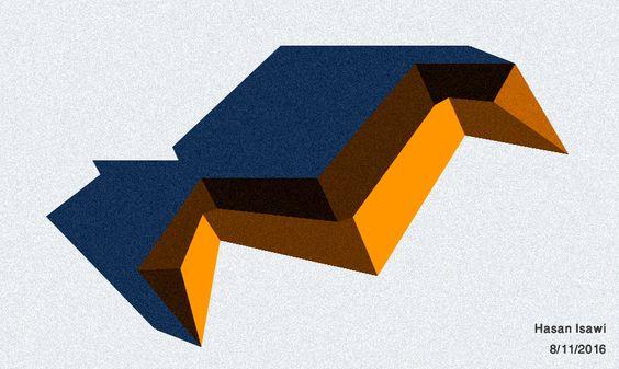 copertura a falde piane con  pendenza costante  سقف بطيات مستوية بميلان ثابت: