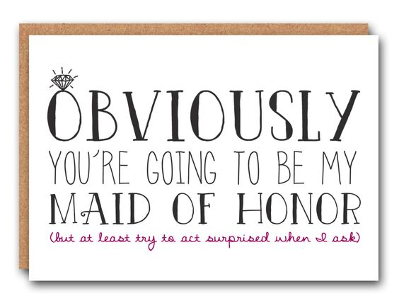 024 // Funny Maid Of Honor Card, Maid Of Honor Card, Bridesmaid Card, Bridal Party Card, Will You Be My Matron of Honor, - pinned by pin4etsy.com