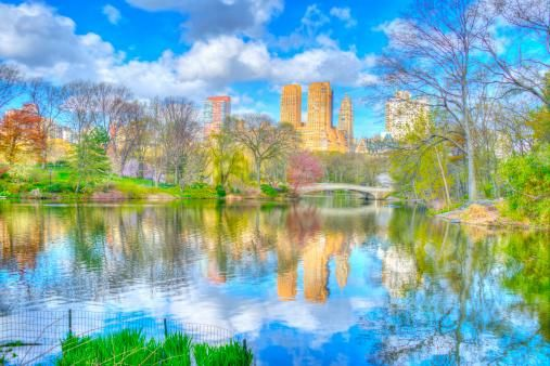 Skyline Reflected in the Lake, Central Park