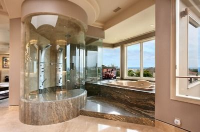 love the oval shower