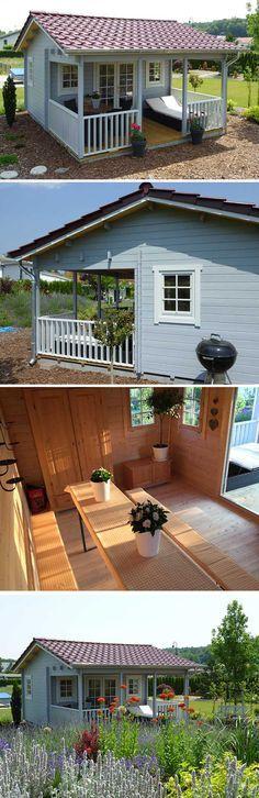 Das Dach Als Highlight Ein Gartenhaus Mit Dachpfannen Gartenhaus Gartenhaus Selber Bauen Dach Dammen