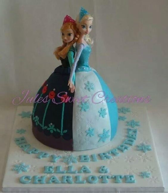 Cake Design For 7th Birthday Girl : My Twins 7th Birthday Cake princess cakes Pinterest ...