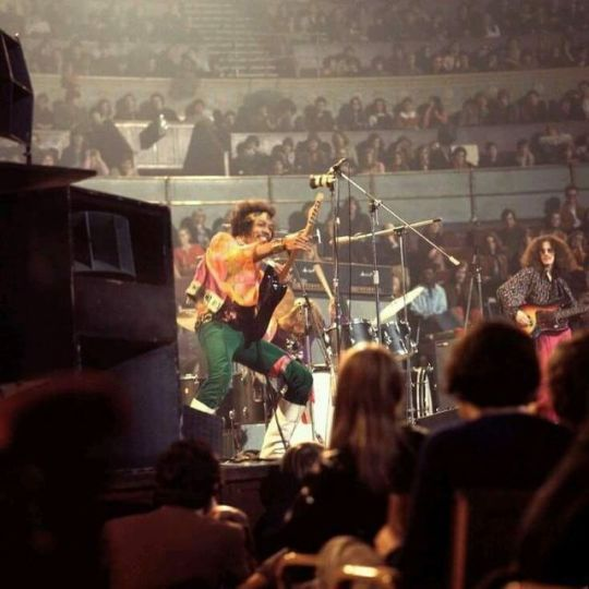 Jimi Hendrix Performing At The Royal Albert Hall In London On