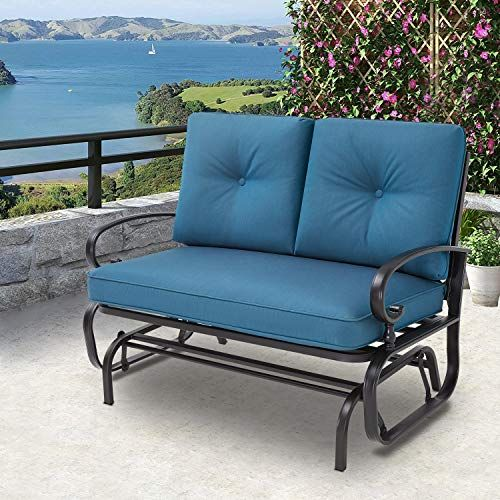 Amazon Com Solaura Patio Loveseat Outdoor Glider Outdoor
