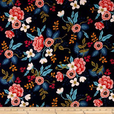 Tissu coton popeline Roses Rouge Rose Olive Noir Blouses Tissu Robes Tissu