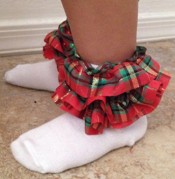 DIY Triple Ruffle Ribbon Ankle Socks