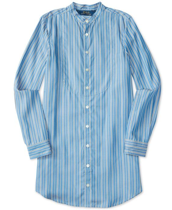Ralph Lauren Girls' Striped Long-Sleeve Shirt