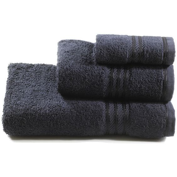 Restmor 100% Egyptian Cotton 3 Piece Towel Bale (50 BRL) ❤ liked on Polyvore featuring home, bed & bath, bath, bath towels, egyptian cotton hand towels, 3 piece towel set, egyptian cotton bath towels, egyptian cotton towel set and black hand towels