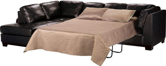 Sectional Sofas Oakdale Piece Genuine Leather Left Facing Sofa Bed Sectional Black Bricks Accent pieces and Verandas