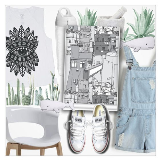 """""""♠ The Usual"""" by paty ❤ liked on Polyvore featuring Billabong, Thro, Tervis, Converse, Milton & King, converse and jeans"""