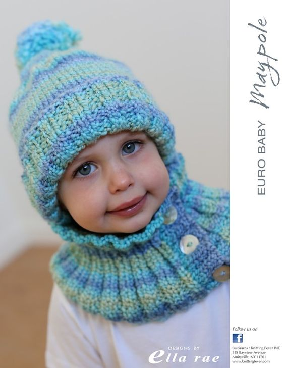 Free hat and cowl pattern, knit in bulky yarn. Would look great in Marble Chu...