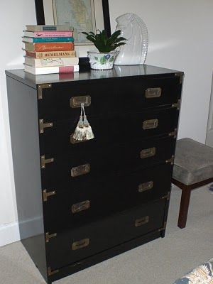 how to paint a campaign dresser with a lacquer finish