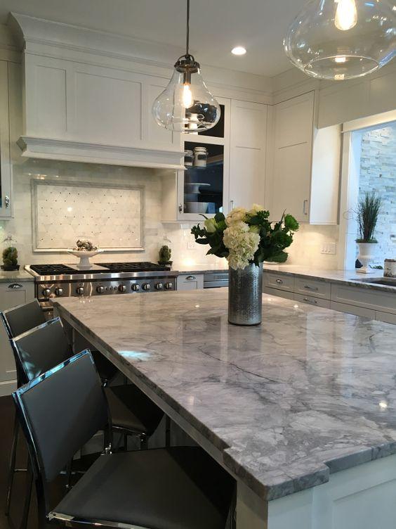 SuperWhite Quartzite. Kitchen countertop SuperWhite Quartzite. The countertops…