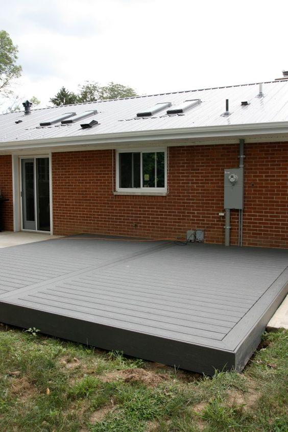 Low Profile Trex Deck Via House Tweaking