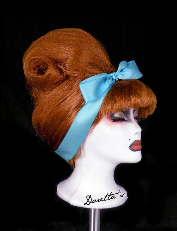 1960 bouffant  Ginger Beehive Wig  Pin Up Inspired  by Dorettas, £100.00