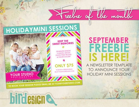 Free photoshop templates - marketing board template to announce - holiday newsletter template