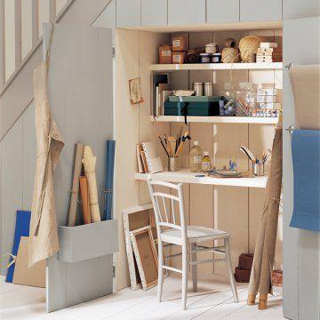 Un bureau sous l escalier madeira offices and armoires - Bureau sous escalier ...