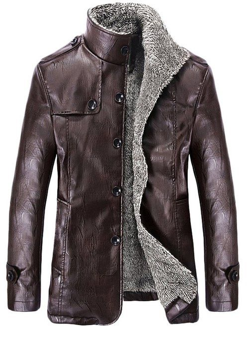 Ubon men's winter thicken PU leather jackets | Amazon Style for ...