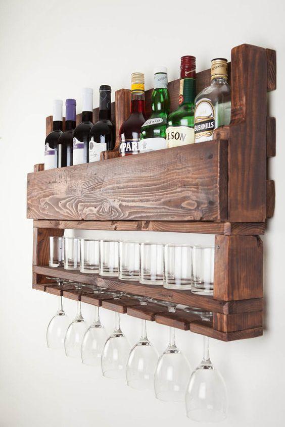 Weinregal Wein Rack aus Holz Weinregal für Wand von APT8ecodesign